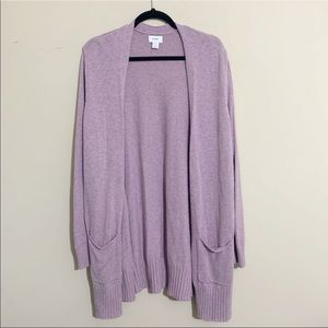 Old Navy Purple Long Open Front Cardigan XXL